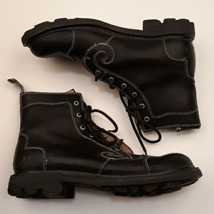 JOHN FLUEVOG Classics Black Leather Sz 11 Boots